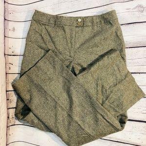 Oscar De La Renta 100% Wool Dress Work Pants Sz 8